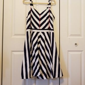 Nautical Dress with Adjustable Straps